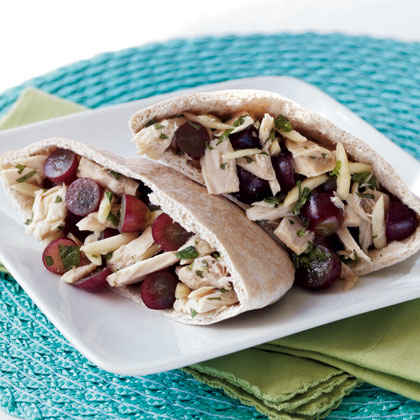 Red Grape & Tuna Salad Pita