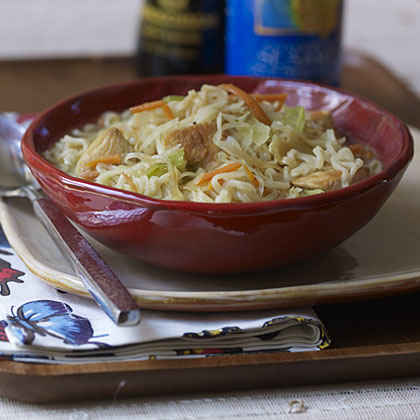 boiled chicken and noodles recipe