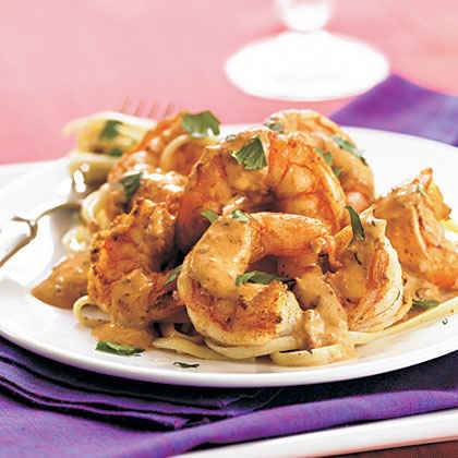 Shrimp with Creamy Orange-Chipotle Sauce