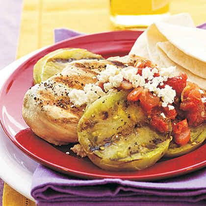 South-of-the-Border Grilled Chicken and Green Tomatoes