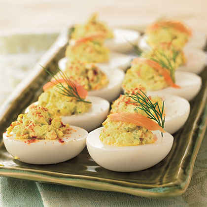 Deviled Eggs with Smoked Salmon and Cream Cheese