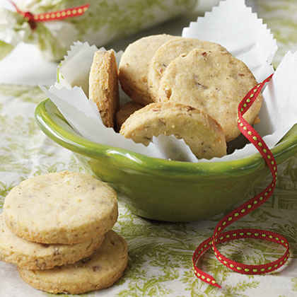 Stone-Ground Cornmeal-Pecan Shortbread