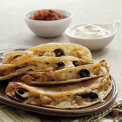 Chicken-Olive Quesadillas