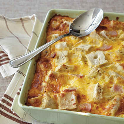 Strata Recipe Ham Cheese Ham And Cheese Strata Recipe