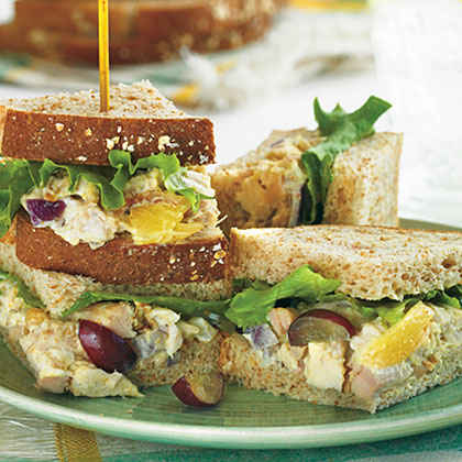 Spicy Curry Chicken Salad Sandwiches Recipe — Dishmaps