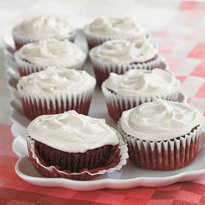 Red Velvet Cupcakes With Orange Buttercream Recipes — Dishmaps