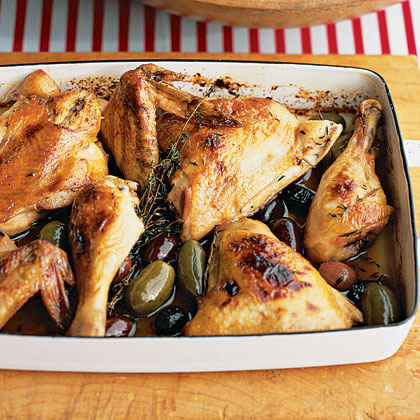 Lemon-Honey Chicken With Olives