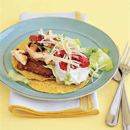 Chicken Tostadas