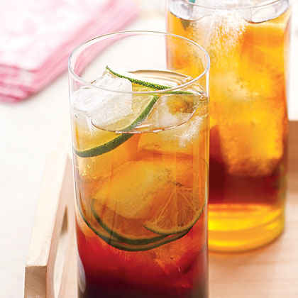 Pomegranate and Lime Iced Tea