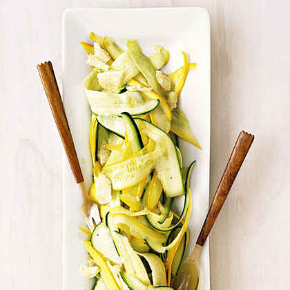 Summer Squash Ribbons with Lemon and Parmesan