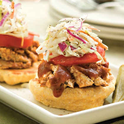 Pulled Chicken: Assemble-Your-Own Barbecue Stacks