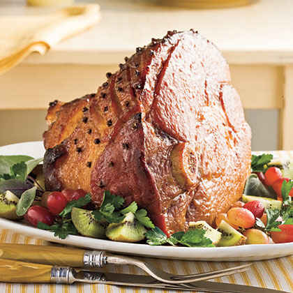 Honey-Bourbon Glazed Ham