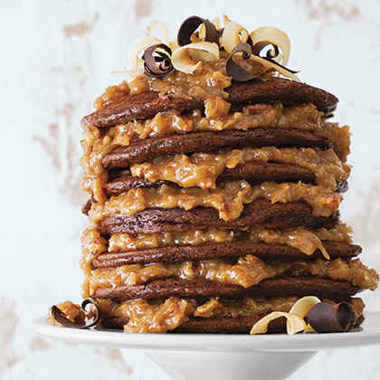 German Chocolate Pancakes