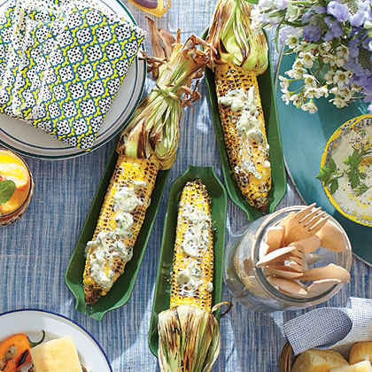 Charred Corn with Garlic-Herb Butter
