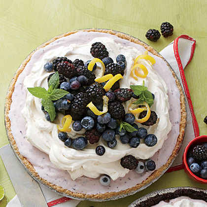 Blueberry-Cheesecake Ice-Cream Pie