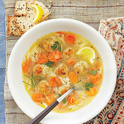 Orzo and Chicken Meatball Soup