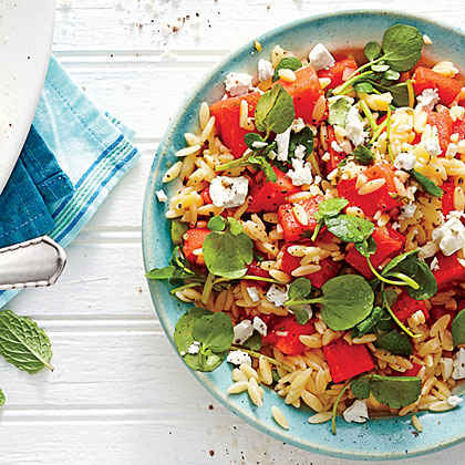 Watermelon-and-Feta Orzo Salad