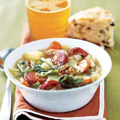 Sausage and Cabbage Soup