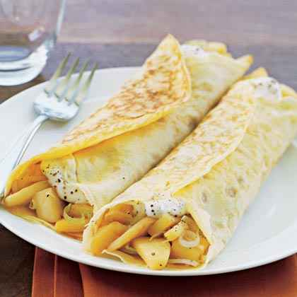 Leek and Apple Crêpes