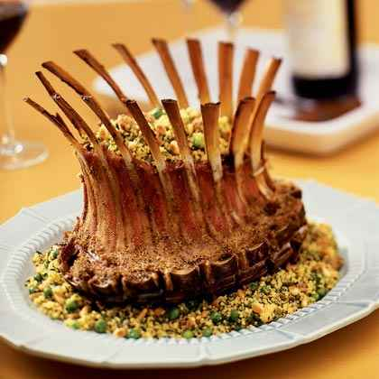 Victory: Crown Lamb Rack with Green Herb Couscous