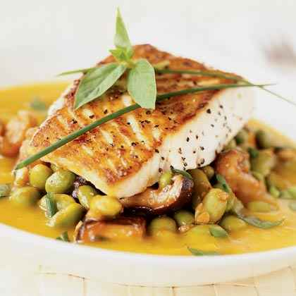 Roasted Fish with Kabocha Coulis