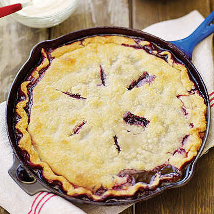 Huckleberry Skillet Cobbler