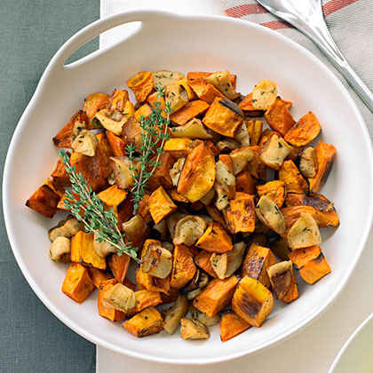 Roasted Sweet Potatoes and Apples