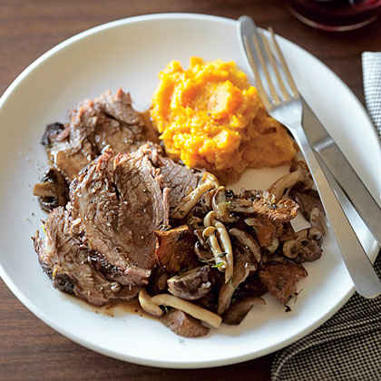 Pot Roast with Wild Mushrooms and Fresh Thyme