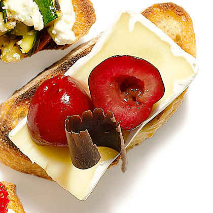 Cheese and Chocolate Bruschetta