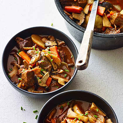Mushroom, Beef, and Bacon Stew