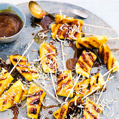 Pineapple Satays with Coconut Caramel