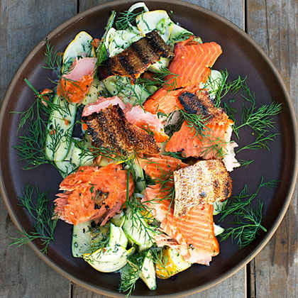 Smoked Salmon Summer Squash Salad