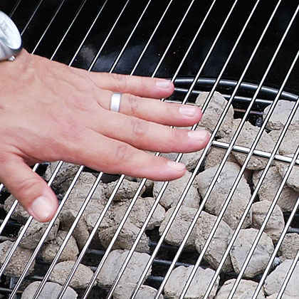 Judging Temperature of Coals With Your Hand