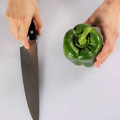 Slicing and Chopping a Bell Pepper