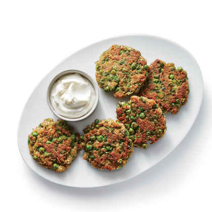 Indian-Spiced Pea Fritters
