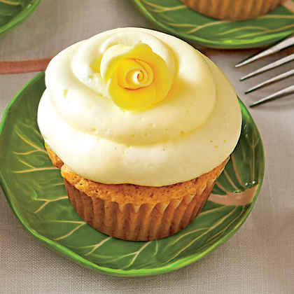 Lemon Sherbet Cupcakes with Buttercream Frosting (Pam's Citrus Cupcakes)