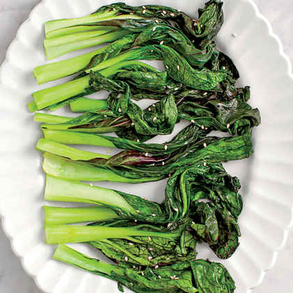 Miso-Braised Mustard Greens