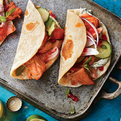 Pacific Northwest Smoked Salmon Tacos