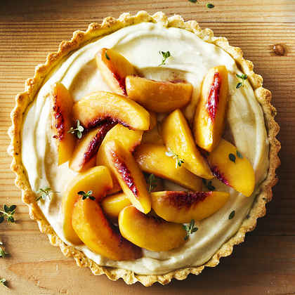 Brown Sugar Peach and Thyme Tart
