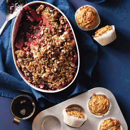 Pear and Sour Cherry Crisp with Oat-Hazelnut Topping