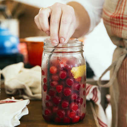 Pickled Cherries with Tarragon and Vanilla