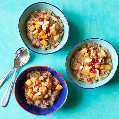 Quinoa Rice Pudding with Caramelized Apples and Honey