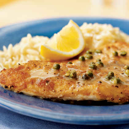 Sautéed Tilapia with Lemon-Peppercorn Pan Sauce