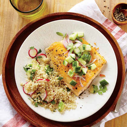 Seared Arctic Char with Cucumber Relish