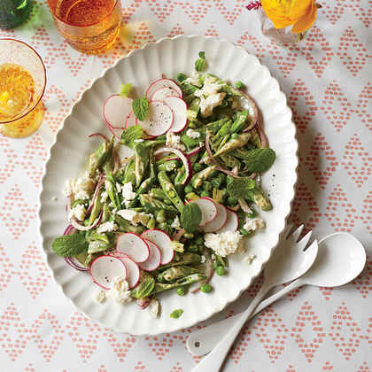 Spring Pea Salad with Creamy Curry Dressing