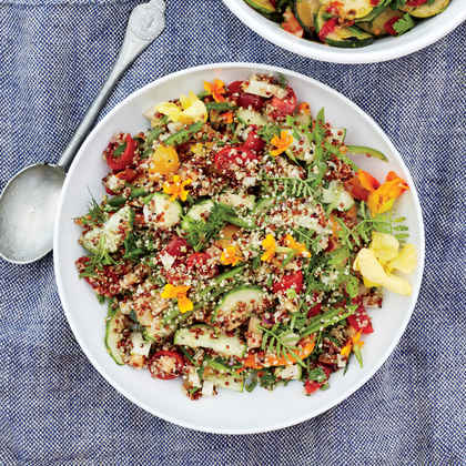 Sprouted Quinoa with Marinated Veggies
