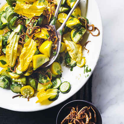 Summer Squash Salad with Crispy Shallots