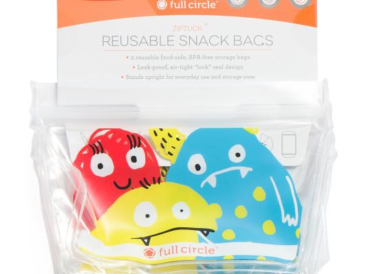 Reusable Monster Snack Bags