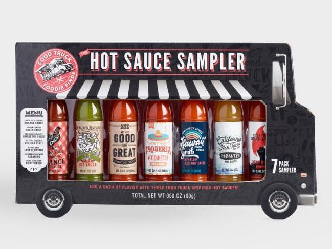 The Hot Sauce Sampler Food Truck Box 7 Pack
