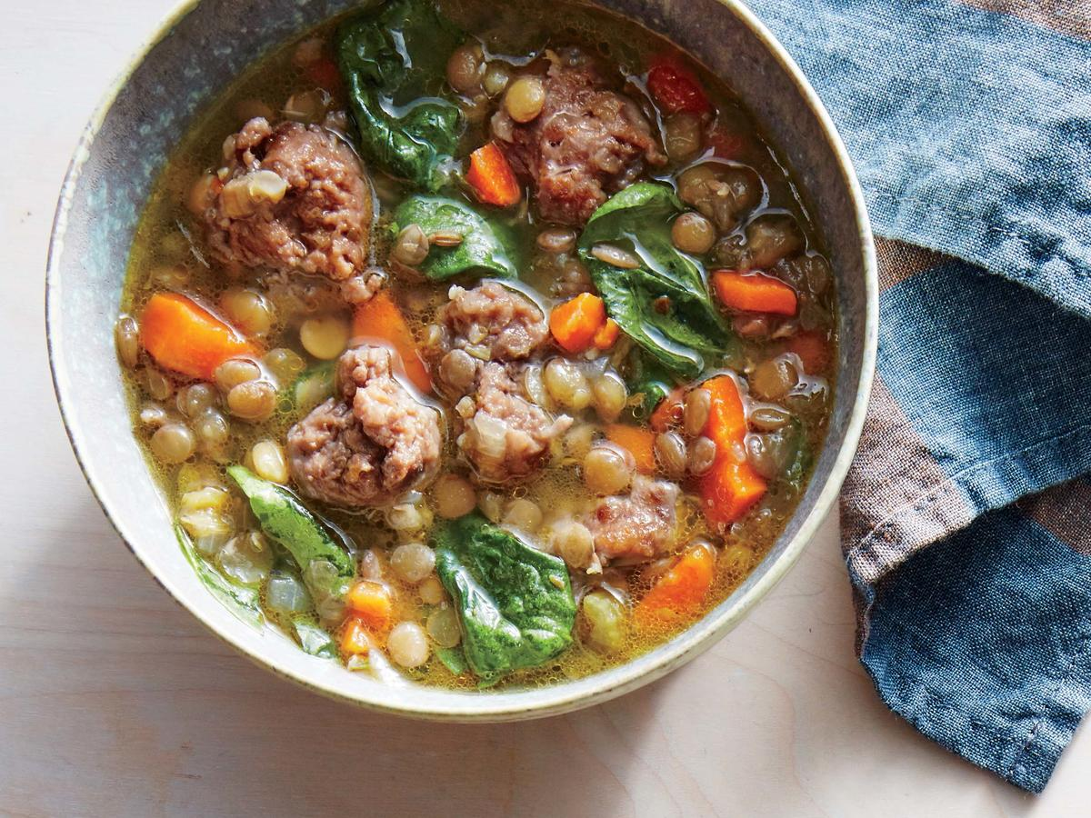Herby Lentil-and-Sausage Soup